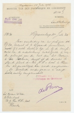 Den Haag 1926 - Brief Postcheque en Girodienst